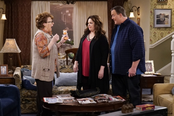 Then, Peggy actually freaks out when she learns about Mike and Molly's adoption plans.
