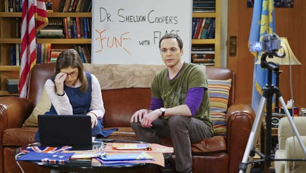 Amy and Sheldon have some troubles filming their web series.