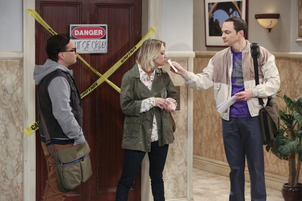 Sheldon makes Penny sniff a letter.