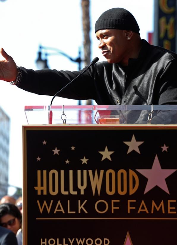 LL COOL J gave a thank you speech