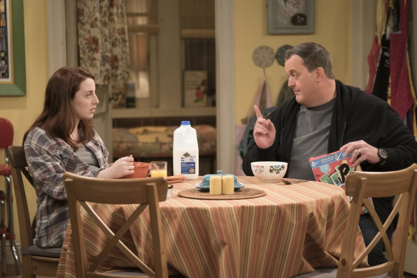 If Frannie is going to stay at their house, Mike explains some important breakfast rules.