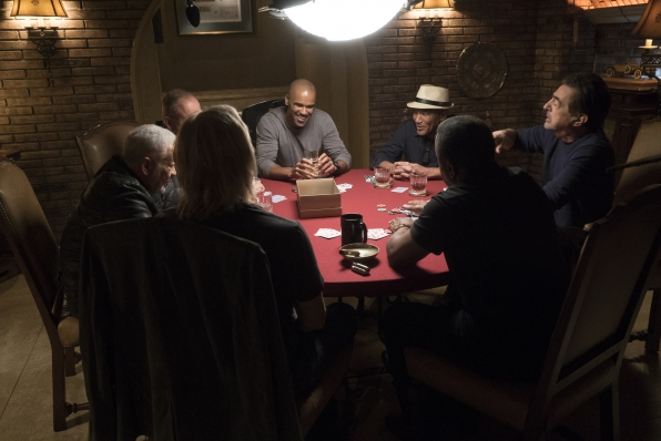 Morgan enjoys a round of poker.