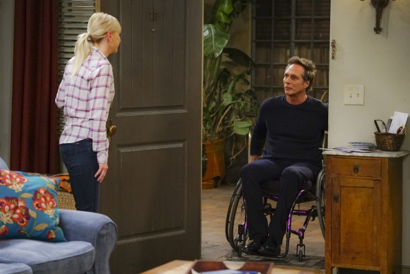 Christy greets Adam at the door before his date with Bonnie.
