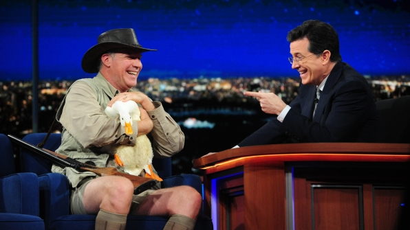 Will Ferrell and Stephen Colbert