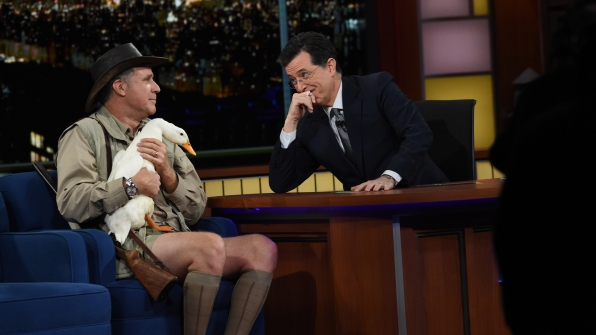 Will Ferrell and Stephen Colbert