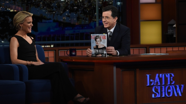Megyn Kelly and Stephen Colbert