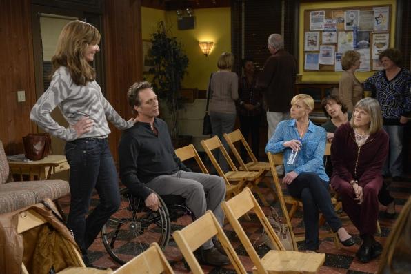 Bonnie brings Adam to an A.A. meeting so he can meet her closest friends.
