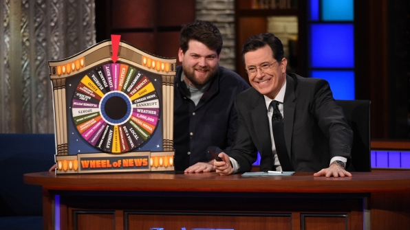 The Wheel of News and Stephen Colbert