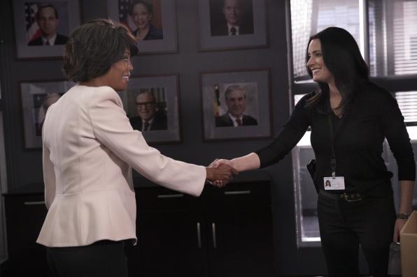 Dr. Tara Lewis meets Agent Emily Prentiss.