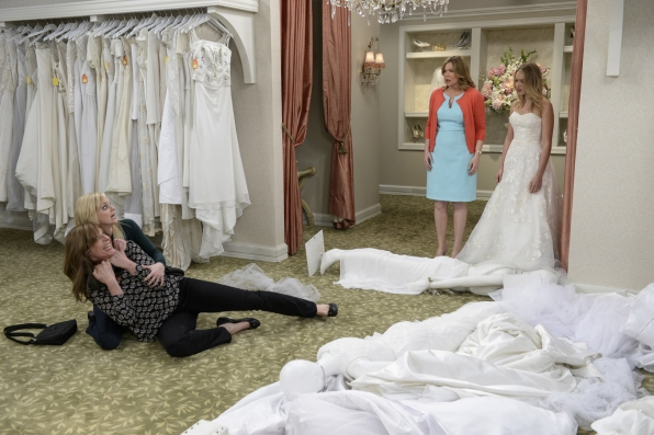 Violet is shocked to find her mother and grandmother rolling around on the bridal shop floor.