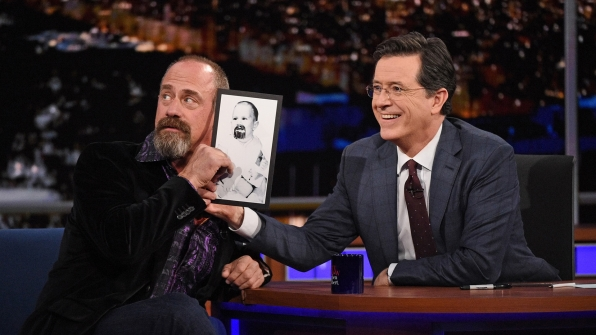 Christopher Meloni and Stephen Colbert