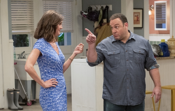 Kevin's wife Donna (Erinn Hayes) knows how to handle his attitude.
