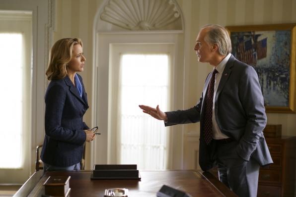 Bess confronts President Dalton.