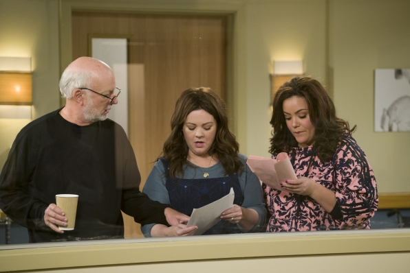Mike & Molly director James Burrows talks with stars Melissa McCarthy and Katy Mixon.