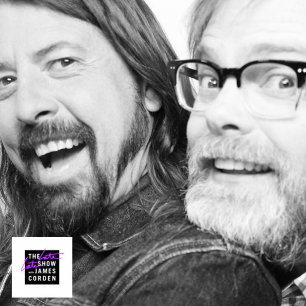 Dave Grohl and Rainn Wilson