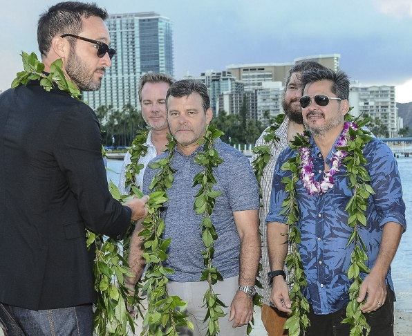 In the spirit of their host culture, the cast and crew of Hawaii Five-0 gathered for their annual blessing ceremony.