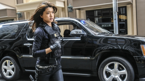 Kono takes off running.