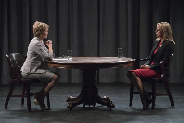 Elizabeth's responsibilities collide with her boss' politics on Madam Secretary.