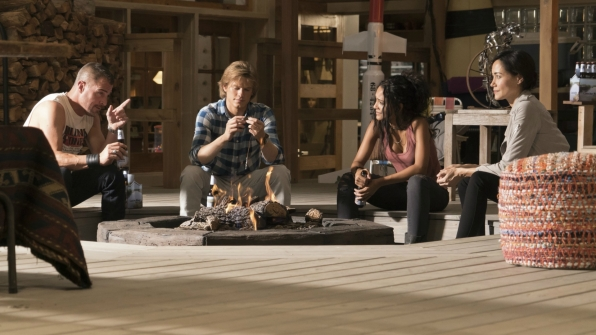 Jack, MacGyver, Riley, and Patricia blow off some steam.