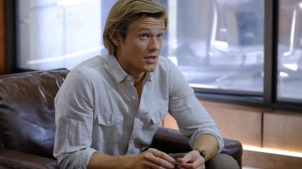 MacGyver plays with his signature paperclip.