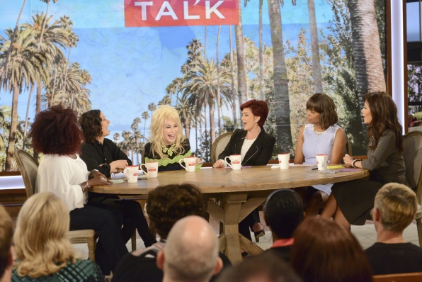 The Talk ladies got a special visit from Dolly Parton.