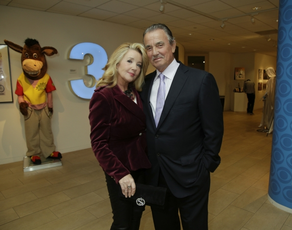 Melody Thomas Scott and Eric Braeden celebrated their many years on Y&R together.
