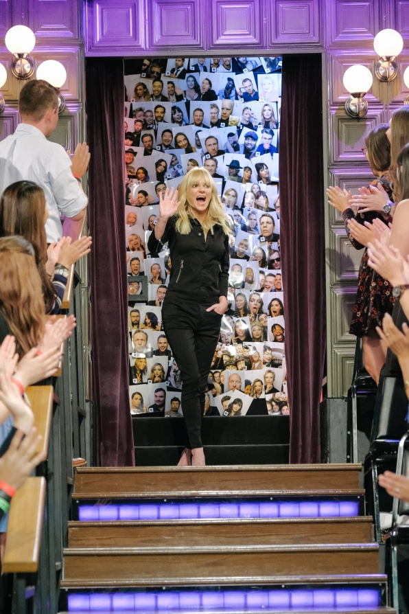 Anna Faris makes her big entrance.