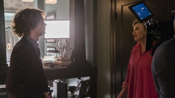 Get another perspective on a scene with Matthew Gray Gubler and Jane Lynch.
