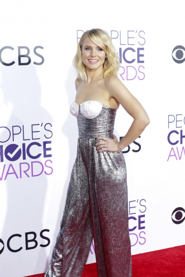 Kristen Bell went bold with a bodysuit.