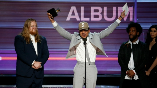 Chance The Rapper wins Best Rap Album at the 2017 GRAMMY Awards