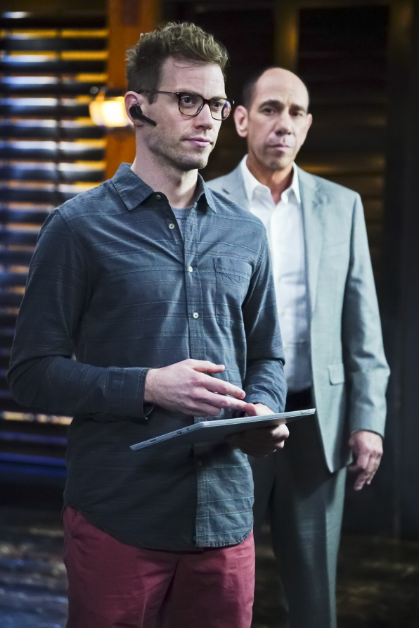 Barrett Foa as Tech Operator Eric Beale and Miguel Ferrer as Assistant Director Owen Granger