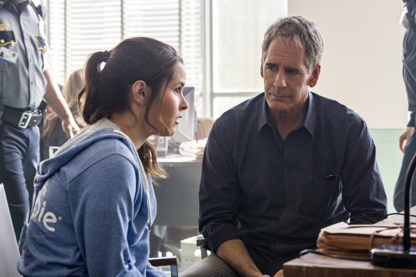 Shanley Caswell as Laurel and Scott Bakula as Special Agent Dwayne Pride