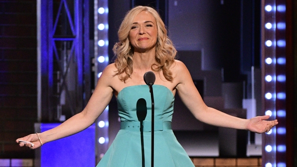 Rachel Bay Jones wins the 71st Annual Tony Award for Best Performance by an Actress in a Featured Role in a Musical