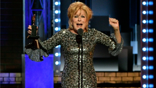 Bette Midler wins the 71st Annual Tony Award for Best Actress in a Leading Role in a Musical