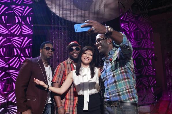 Julie With Boyz II Men.