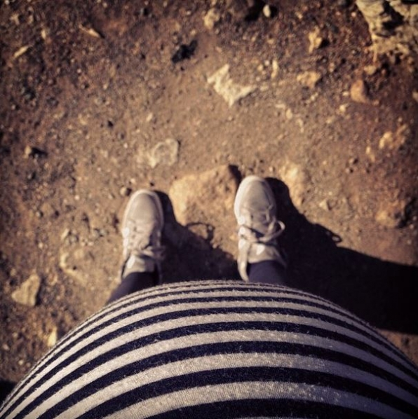 14. The baby-bump selfie.