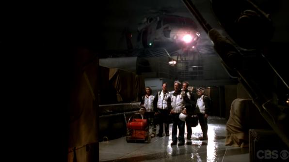 NCIS team landing