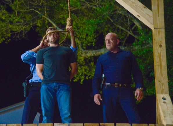 15. Big Jim forces a public trial for Barbie and sentences him to death by hanging... which doesn't go as planned.