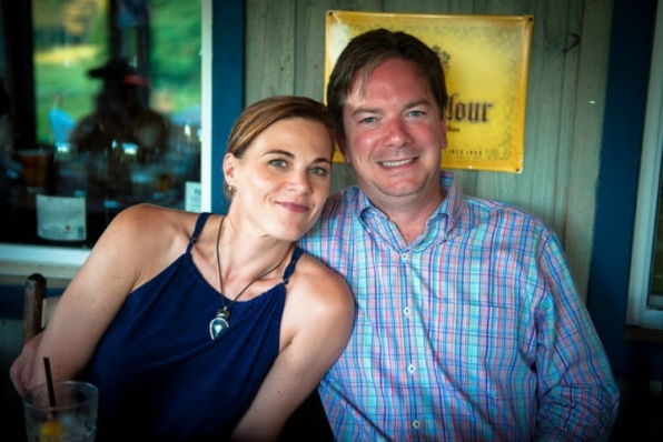 Gina Tognoni (Phyllis Abbott) spent her week off vacationing in Maine with her husband, Joe.