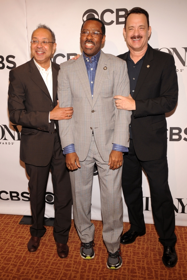 George C. Wolfe, Courtney B. Vance, and Tom Hanks