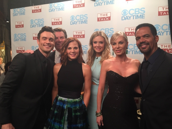 """The Young and the Restless"" Cast Members Backstage"