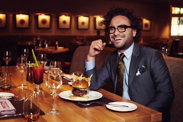 Johnny Galecki, especially when he joins us for a good burger