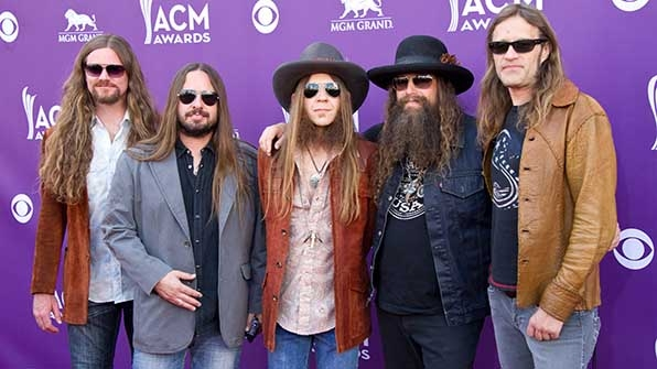 Brandon Still, Brit Turner, Charlie Starr, Paul Jackson, and Richard Turner of Blackberry Smoke kept it cool at the 48th Annual Academy of Country Music Awards.