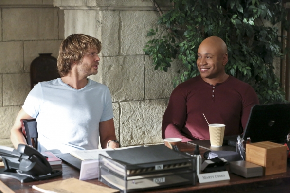Eric Christian Olsen as LAPD Liaison Marty Deeks and LL COOL J as Special Agent Sam Hanna.