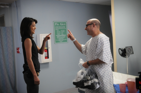 Grace Park as Kono Kalakaua and Willie Garson as Gerard Hirsch