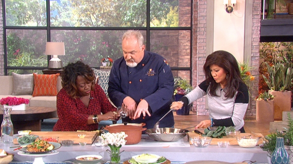 4. Chef Art Smith whipped up a tasty meal.