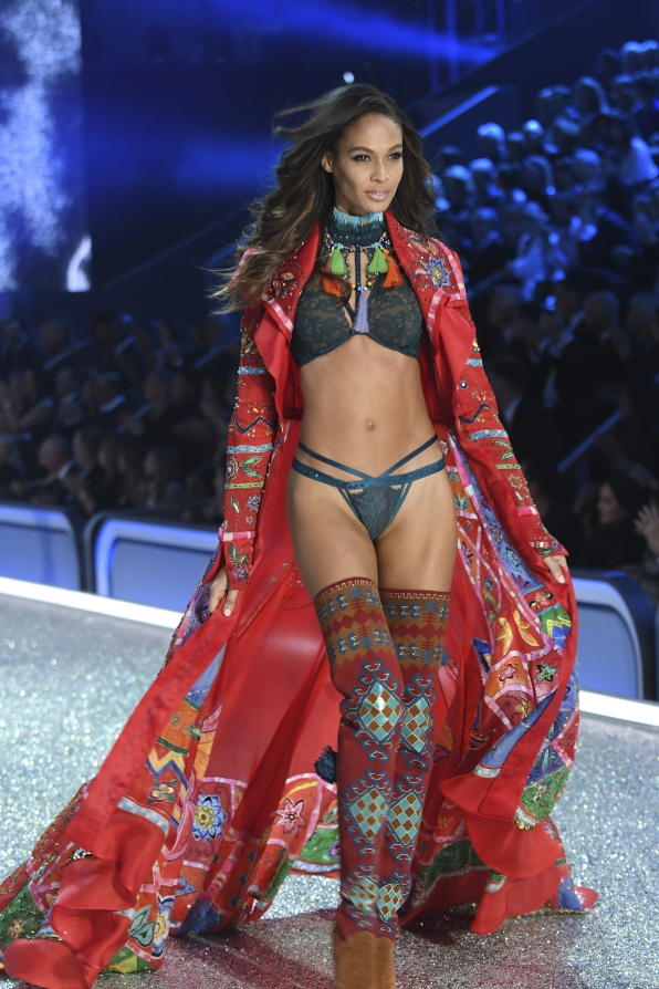 Joan Smalls has us seeing red during The Road Ahead segment.
