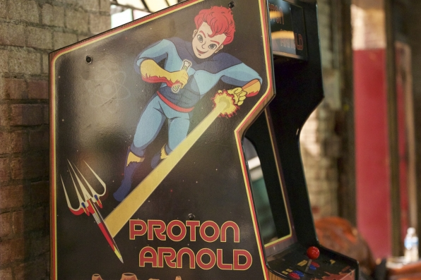 It's the Proton Arnold arcade game!