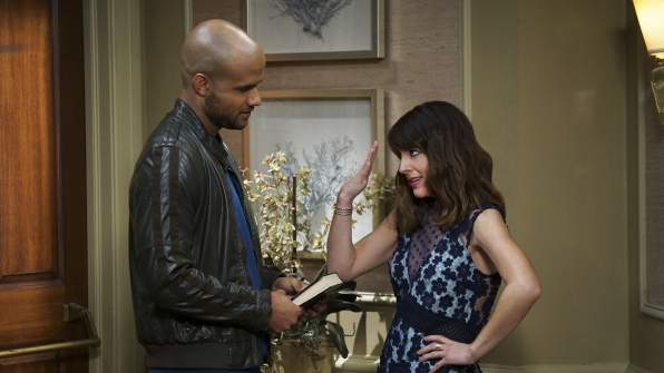 Troy talks privately with Emily.