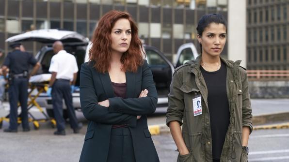 Sarah Greene as Maxine Carlson and Nazneen Contractor as Zara Hallam